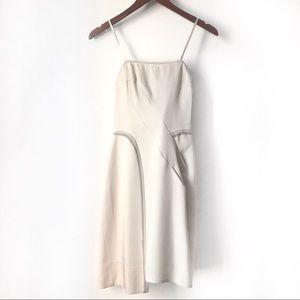 BCBGMaxAzria Cream Chiffon Trim Strapless Dress 2